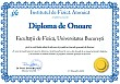 Diploma de onoare (Faculty of Physics, University of Bucharest)